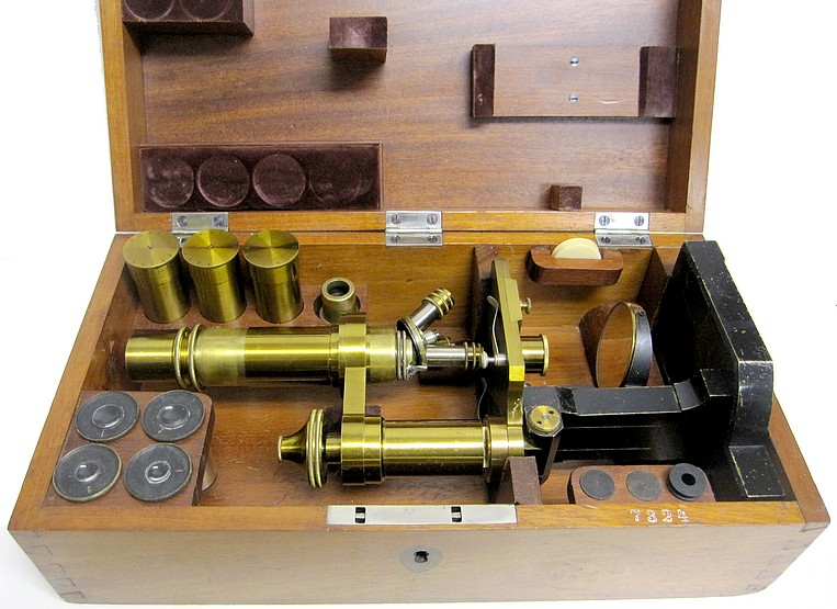 Zeiss, Jena, 7324. Microscope model Va in the case