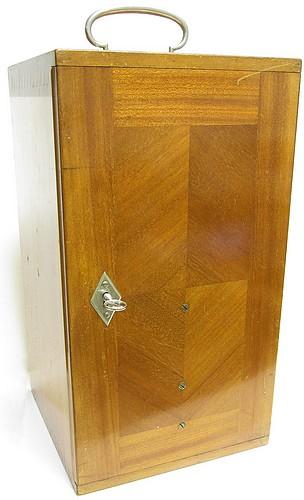 Zeiss, Jena No. 53444, Germany. Stand 1b Jug-Handle model, c. 1910. Storage case