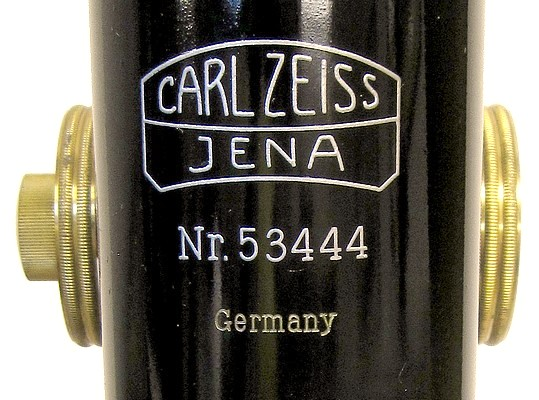 zeiss, jena no. 53444, germany. stand 1b jug-handle model, c. 1910