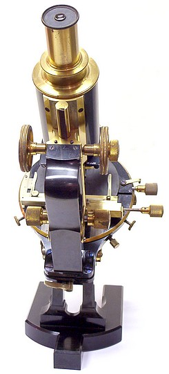 Carl Zeiss, Jena No. 47238. Jug-handle microscope