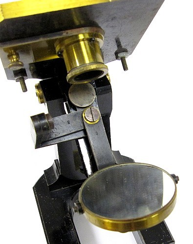 c. zeiss, jena 4969. microscope model va, c. 1880. aperture stop holder and mirror assembly