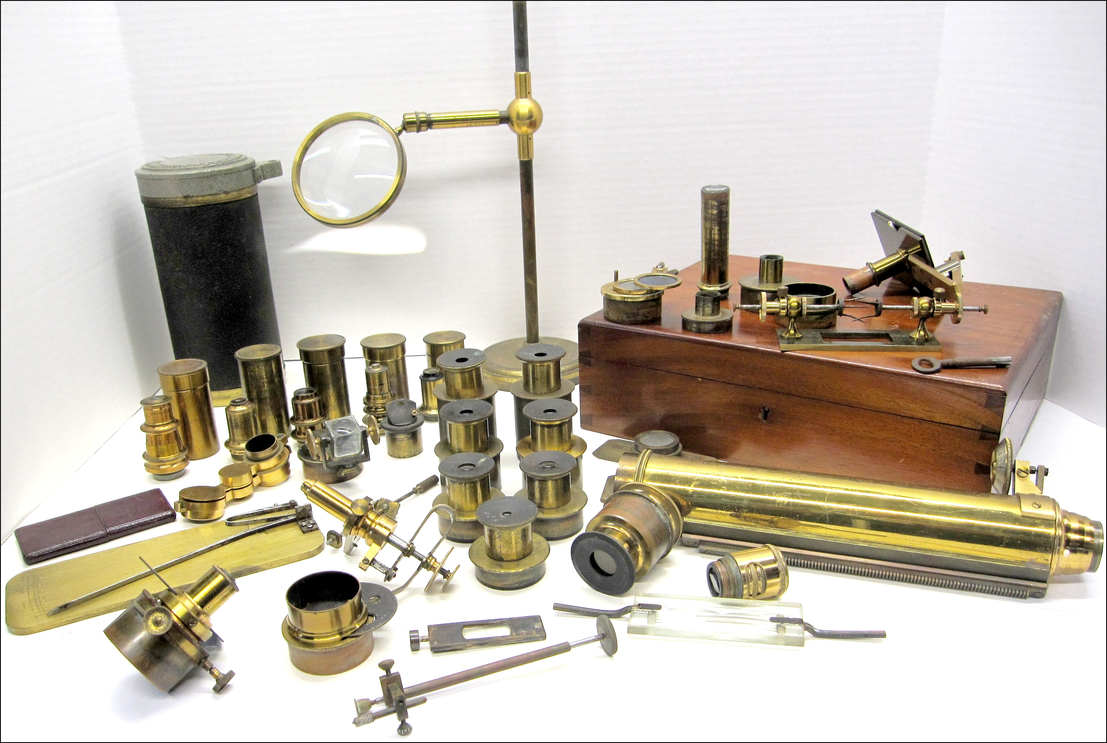Zentmayer Grand American microscope binocular 1089 accessories