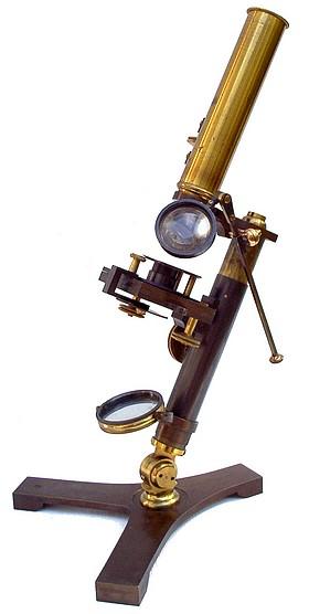 Monocular microscope: Abraham, Liverpool c. 1840
