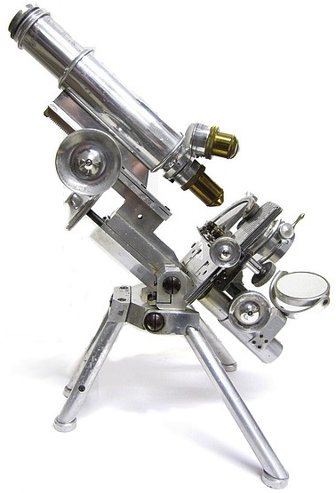 j. swift and son, london. patent 24960. portable histological model microscope in aluminum, c. 1895