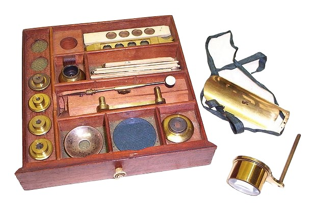 Bate, London. Jones Improved type microscope, c. 1820. Accessories