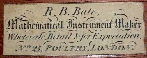 Bate London, Small Jones Most Improved Type Microscope. c.1825