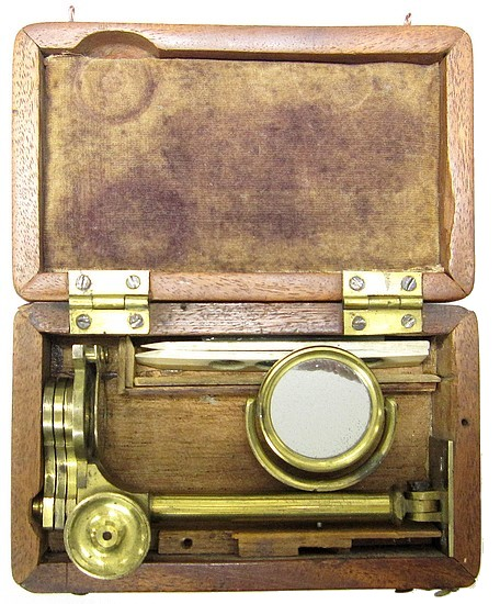 Folding botanical microscope, c.1830