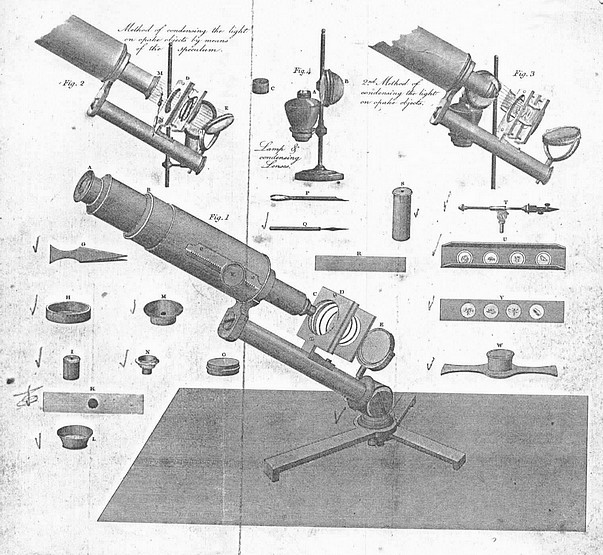 Carpenter type improved microscope. c.1830