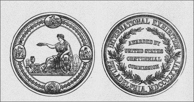 1876 Centennial medal awarded to Joseph Zentmayer