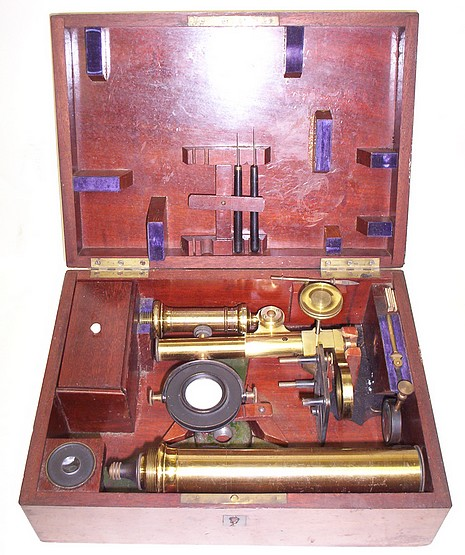 Microscope made by Charles Chevalier, c. 1855