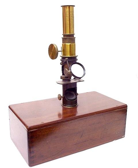 Charles Chevalier, Ingenieur Opticien, Breveté, Palais Royal 163, Paris. Case-mounted drum microscope, c.1845