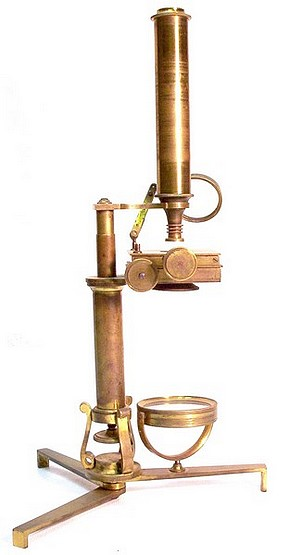 Continental   microscope: c. 1840