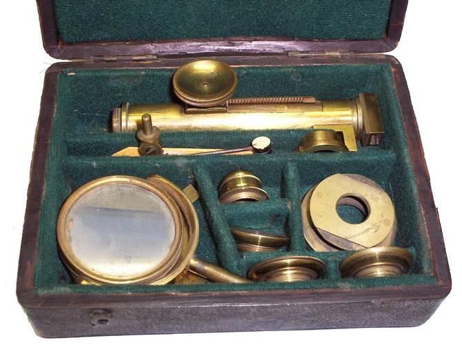 An Ellis aquatic microscope c.1775