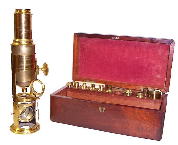English Drum Microscope c. 1850
