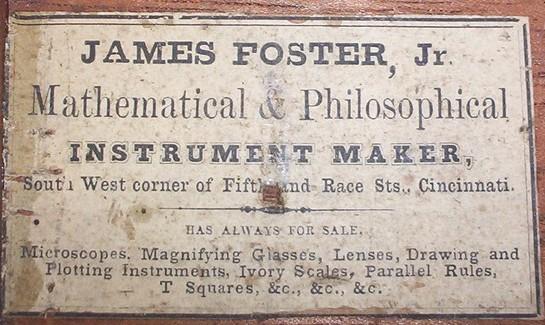 James Foster Jr. Trade label