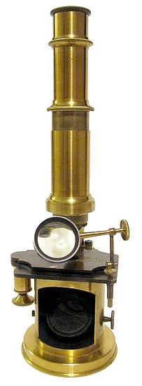 French Drum Microscope with stage fine focus, c. 1850French Drum Microscope with stage fine focus, c. 1850
