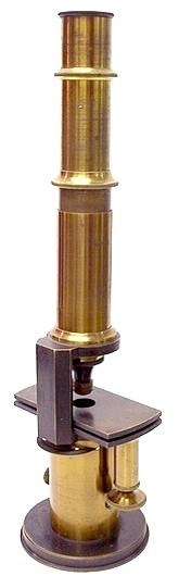 A. Kruss, Hamburg, No. 260. Drum Microscope with stage fine focus adjustment, c. 1860
