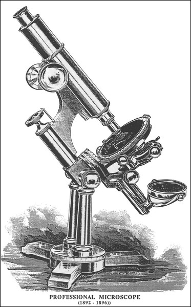 Bausch & Lomb Optical Co., Rochester and New York City, #16221. The final version of the Professional Model microscope