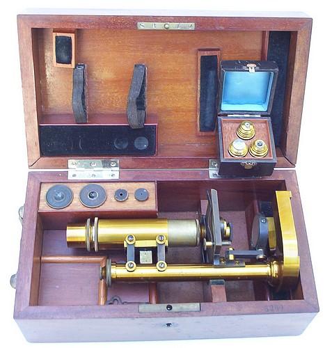 Monocular microscope: E. Leitz Wetslar, No. 6260 Stativ IV  c. 1883