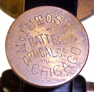McIntosh Battery & Optical Co., Chicago .The New Clinical Microscope No. 2