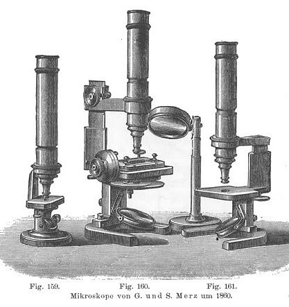 G. & S. Merz Munchen N:866. Large model monocular microscope c. 1868