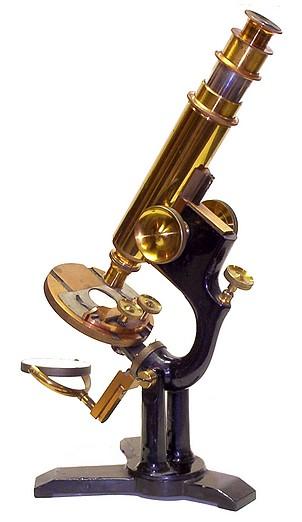 Bausch & Lomb Optical Co. The Model microscope, c.1887