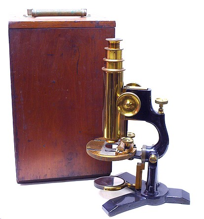 "Bausch & Lomb Optical Co. ""The Model"" microscope illustration"