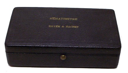 Nachet & Fils, 17 rue St. Severin, Paris. Hayem-Nachet Hemocytometer.