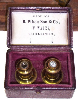 Benj. Pike's Son & Co., Monocular microscope, Wale objectives, Economic series.