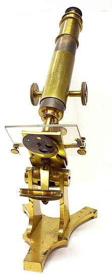 Benj. Pike's Son & Co., 930 Broadway, NY. Monocular microscope, c. 1878