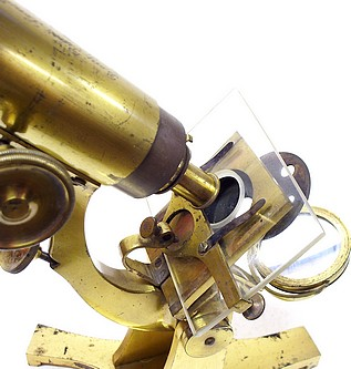 Benj. Pike's Son & Co., 930 Broadway, NY. Microscope with stage fine focus adjustment, c. 1878