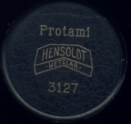 Hensoldt Wetzlar serial number 3127. Protami Field or Portable Microscope. signed on top of the outer case