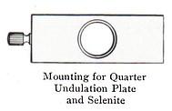 quartz plate mounting