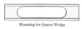 quartz wedge
