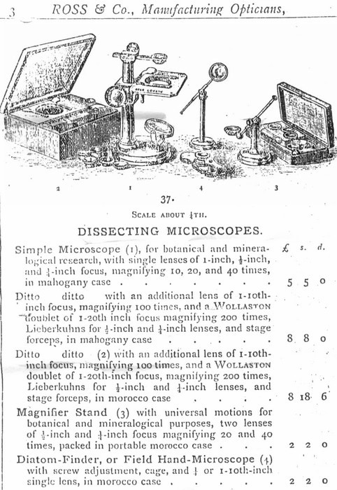 Ross field hand microscope, c. 1875