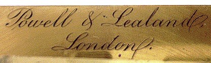 Powell and Lealand stage signature