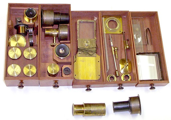 Accessories for Ross microscope No. 88