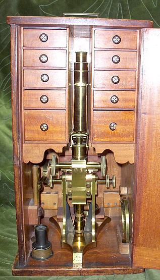 Ross microscope No. 88 in case
