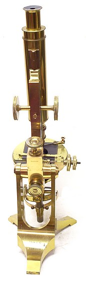 Ross, London #5008. Small Ross-Zentmayer model microscope