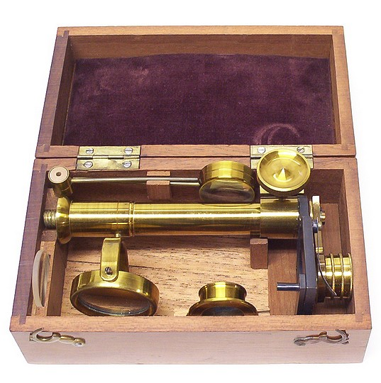 Botanical-Entomological Microscope. The School Microscope in the case