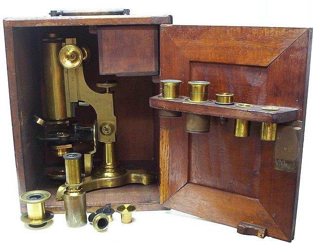 microscope in the case