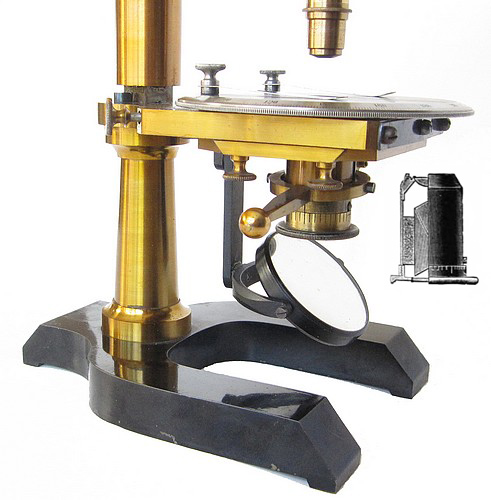 Seibert in Wetzlar No. 8984. Petrological (Polarizing) Microscope, c. 1898, Substage