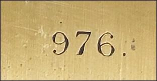 serial number 976