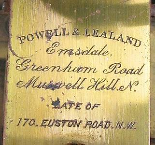 Powell and Lealand, Elmsdale, Greenham Road, Muswell Hill N. Late of 170 Eustan Road N. W.