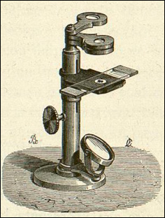 simple microscope with three lenses