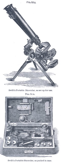 J. Swift & Son, 43 University St., London W.C. Portable binocular microscope