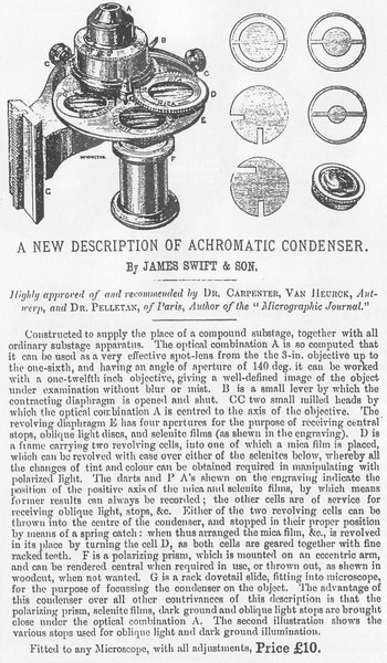 J. Swift & Son, 13 University St., London W.C. - substage condenser