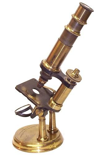 C. Verick, èlève spécial du Hartnack rue de la Parcheminerie 2, Paris, No. 3275, c. 1880. Verick Laboratory Microscope No.7