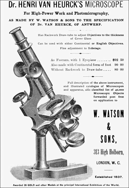 A Watson & Sons 1892 advertisement