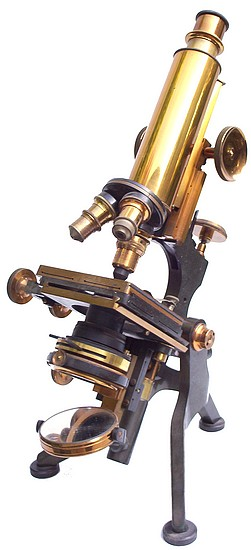 W. Watson & Sons Ltd, 313 High Holborn, London #11787. The Edinburgh Student microscope Model H. c. 1909